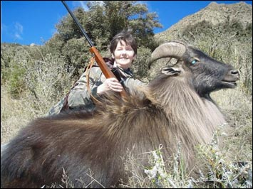 Mary-Kate with her Himilayan Bull Tahr